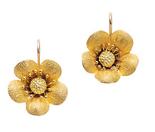 Wild Roses in an Estate Earring