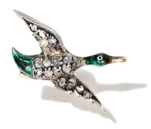 Just Ducky: Antique Mallard Stickpin