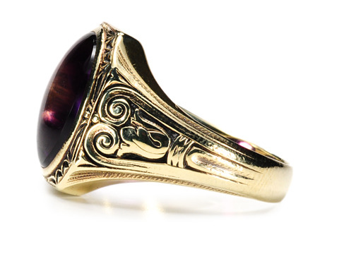 Royal Rivalry - Art Deco Amethyst Ring