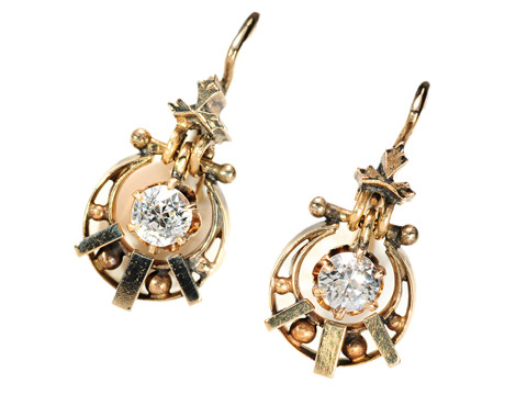 Celestial Skies: Crescent Moon & Star Earrings