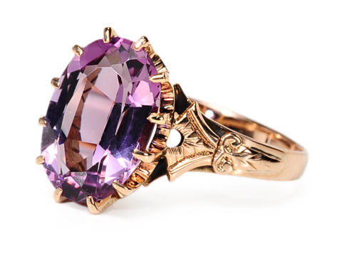 Grand Antique Amethyst Ring