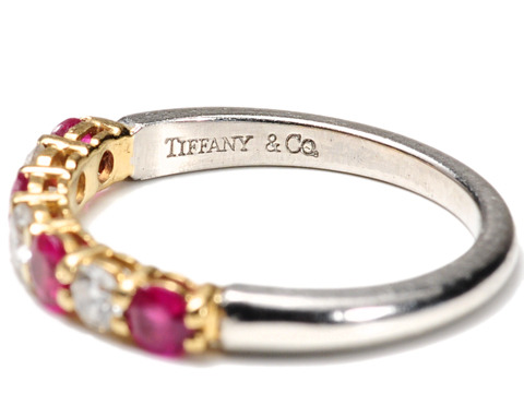 Tiffany Ruby Diamond Wedding Band