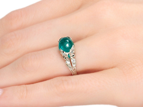 All Wrapped Up  - Evocative Emerald Diamond Ring