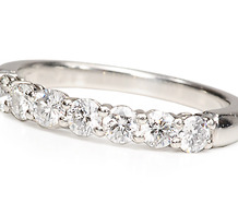 Tiffany & Co. Half Eternity Diamond Ring
