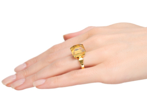 The Statement: Gucci Citrine Nail Ring
