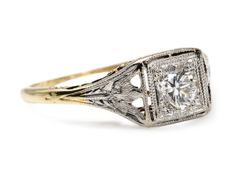Not Just an Art Deco Solitaire Diamond Ring