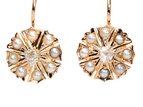 Sweet as Pie: Edwardian Pearl Earrings