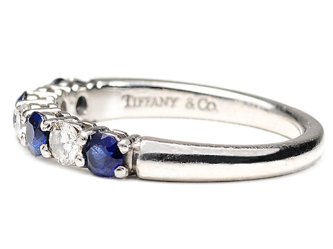Legendary Tiffany Sapphire Diamond Eternity Ring