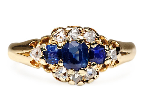 Lighting Up an Edwardian Diamond Sapphire Ring