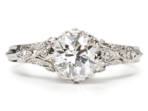 Diamond Drama in an Edwardian Ring