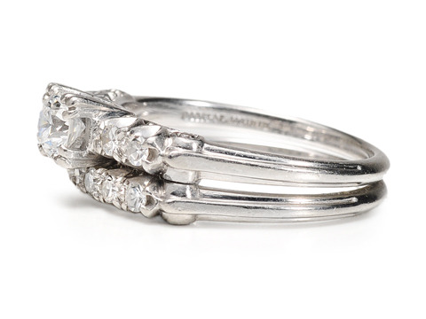 Granat Bros. Art Deco Diamond Wedding Set