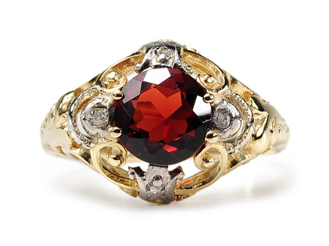 Incomparable: Edwardian Garnet Diamond Ring