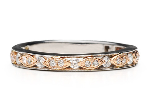 Eternity Band of Diamonds Rose & White Gold