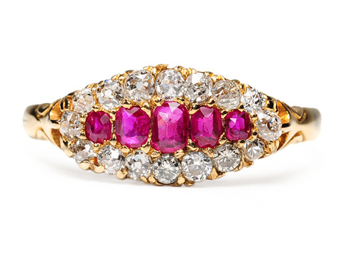 Edwardian Kiss in a Ruby Diamond Ring