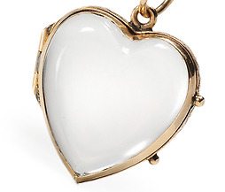 Small Heart Large Sentiment: Rock Crystal Locket