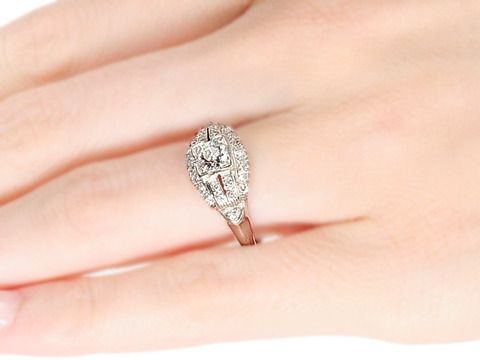 American Artistry: Art Deco Diamond Ring