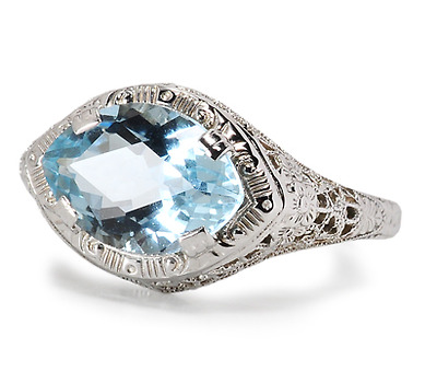 20th C. High: Aquamarine Ring