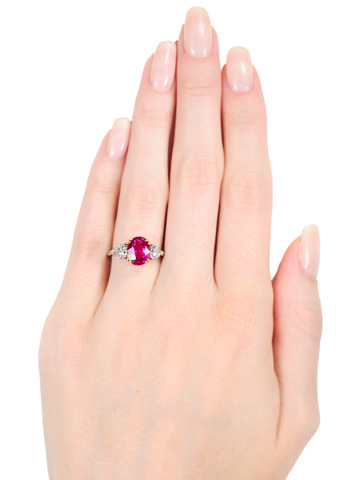 Burmese No Heat 3.31 ct Ruby Diamond Ring