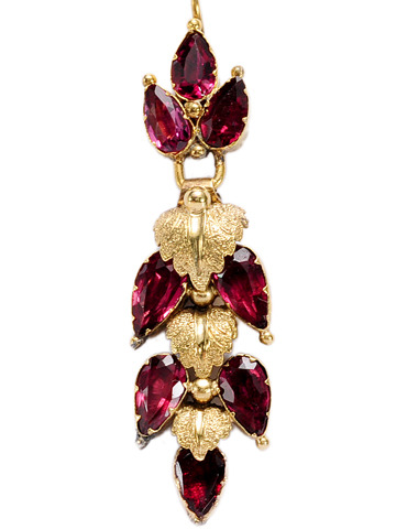 Georgian Fruit - Almandine Garnet Earrings