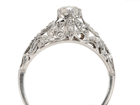 Veil of Light - Art Deco Diamond Dome Ring