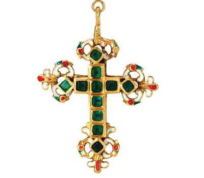Very Rare 17th C. Reliquary Cross Pendant