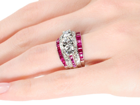 Cocktail Extraordinaire: Natural Ruby Diamond Ring