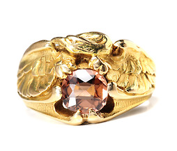 Wings of Power - Zircon Gold Ring