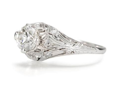 Platinum Designs:  Art Deco Diamond Ring