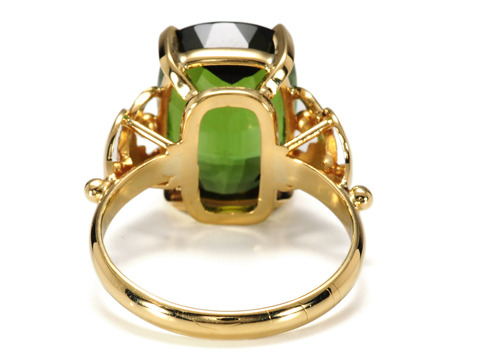 Powerful 8 ct Green Tourmaline Ring