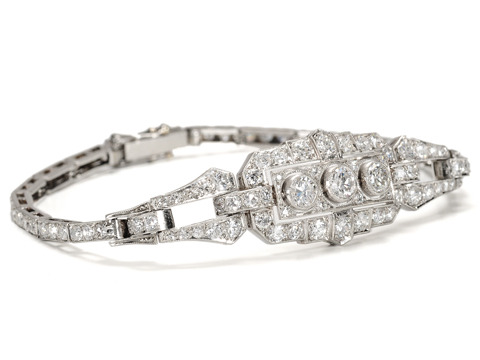 Ode to French Art Deco Diamond Bracelet