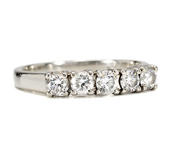 Retro Five Diamond Eternity Band