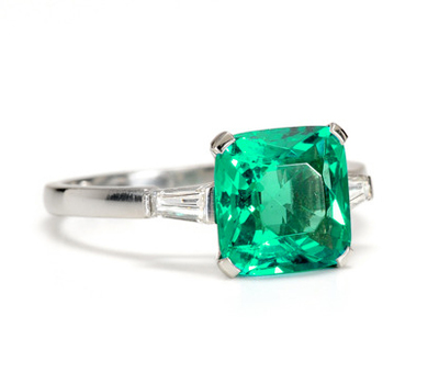Green Goddess: 2.5 ct Emerald & Diamond Ring