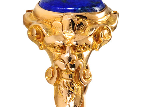 Antique Renaissance Revival Lapis Ring