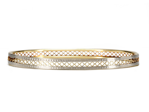 Krementz Two Tone Gold Bangle