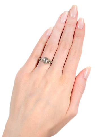 Radiant Fire - Diamond Solitaire Ring