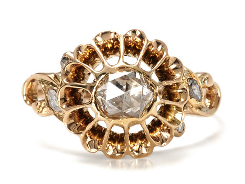 Dance of the Rose Cut Diamond Antique Ring