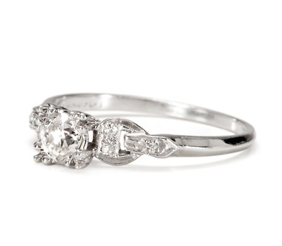 Thrilling 1930s Diamond Engagement Ring