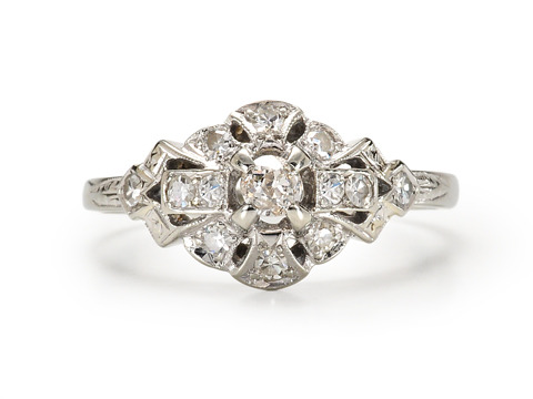 20th C. Glitter: Diamond Ring