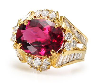 Pure Magic: 6.03 ct Rubellite & Diamond Ring
