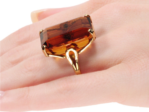 Bold 35.6 ct Citrine Ring