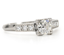 Lambert Bros. Diamond Platinum Engagement Ring