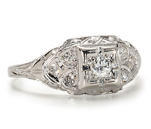 Decadent Diamond Platinum Ring