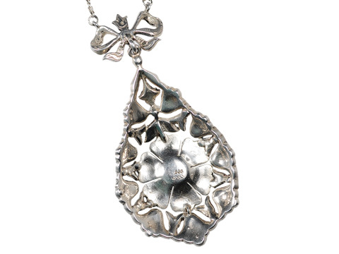 Grand Antique Swedish Silver Pendant