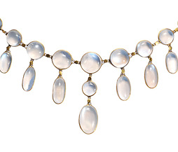 Edwardian Magic: Blue Moonstone Festoon Necklace