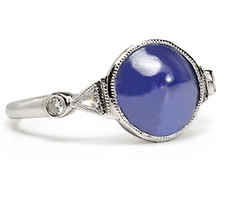 Domed Wonder: Sapphire & Diamond Ring