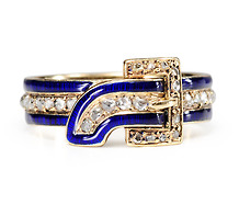 Order of the Garter: Victorian Enamel & Diamond Ring