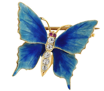 Riker Bros. Art Nouveau Butterfly Brooch