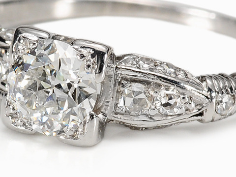 Art Deco Enchantment in a Diamond Ring