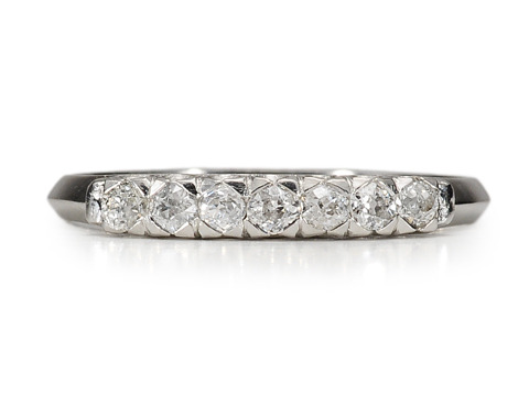 Age of Elegance: Platinum Half Eternity Band