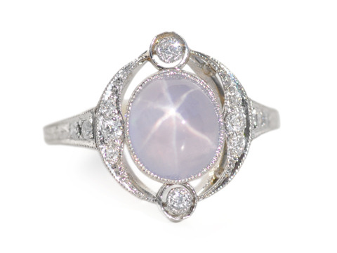 Celestial Wishes: Art Deco Star Sapphire Ring